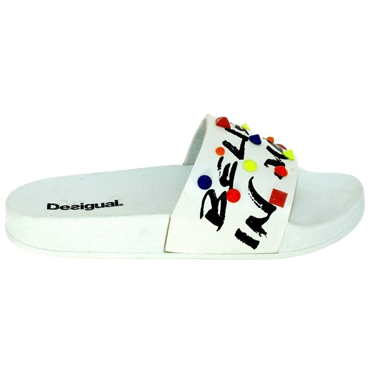BUSAN SHOES_SLIDE CANDY:BLANC/SYNTHETIQUE/CAOUTCHOUC/CAOUTCHOUC/Blanc