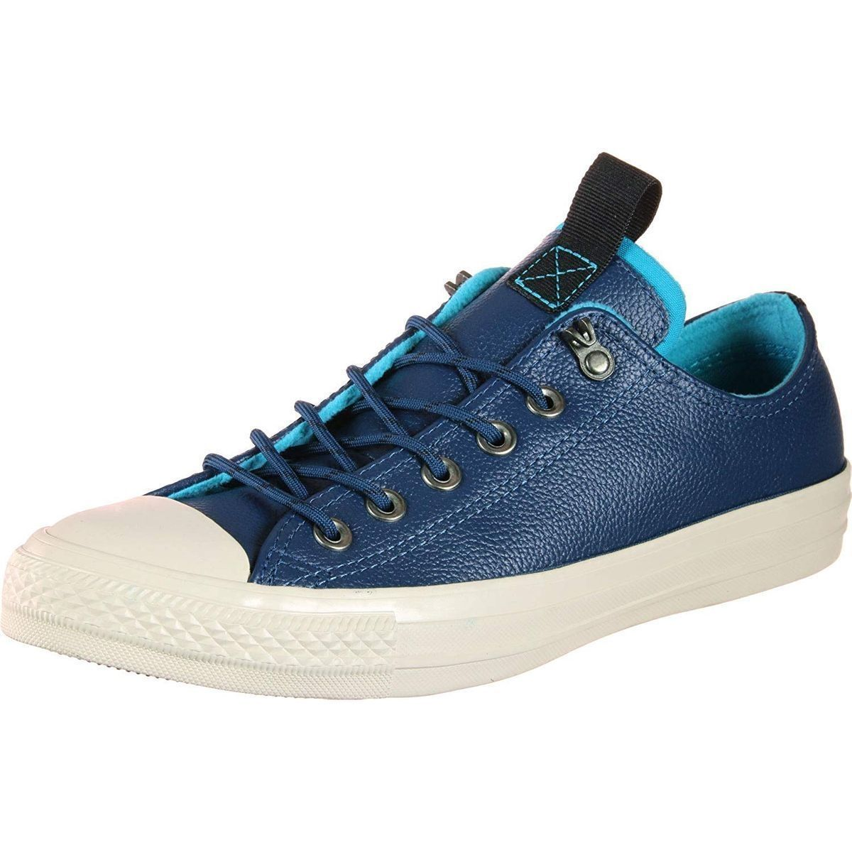 THOR CHUCK TAYLOR ALL STAR LEATHER - OX:BLEU/CUIR/TEXTILE/CAOUTCHOUC/Bleu