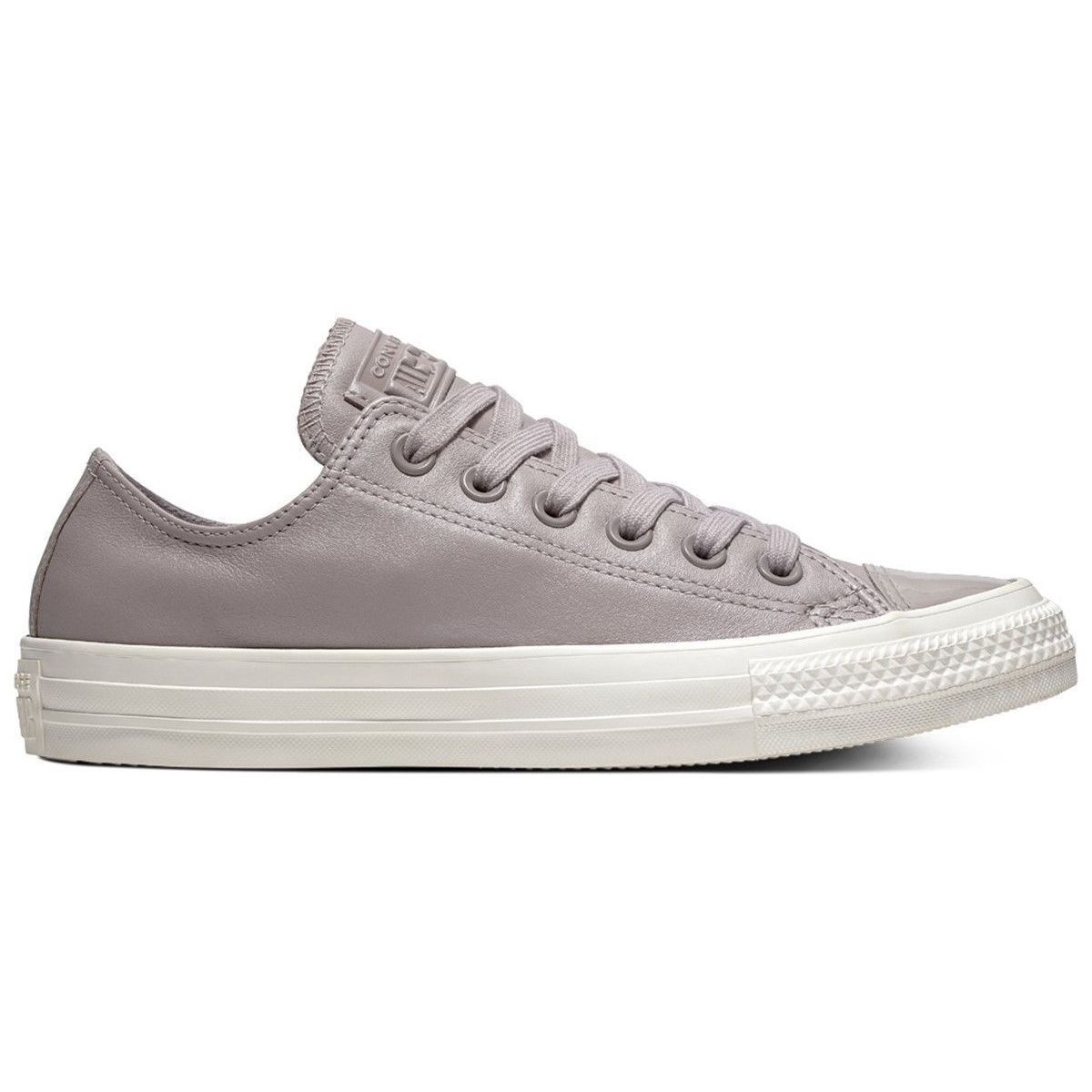 STOCK CITY W CHUCK TAYLOR ALL STAR LEATHER - OX:GRIS/CUIR/TEXTILE/CAOUTCHOUC/Gris
