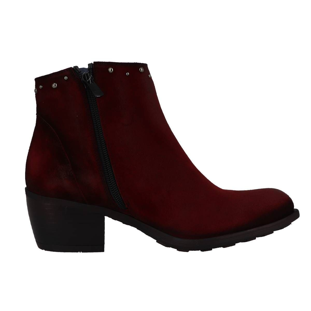 ROCK MID 8099:ROUGE/CUIR/CUIR/SYNTHETIQUE/Rouge