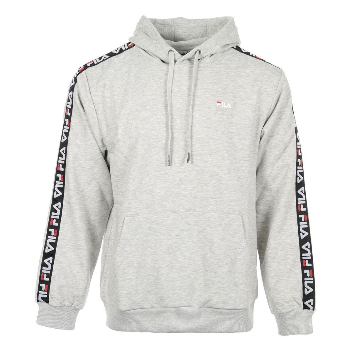 STONE 1 W MEN DAVID TAPED HOODY:GRIS/COTON/COTON//Gris