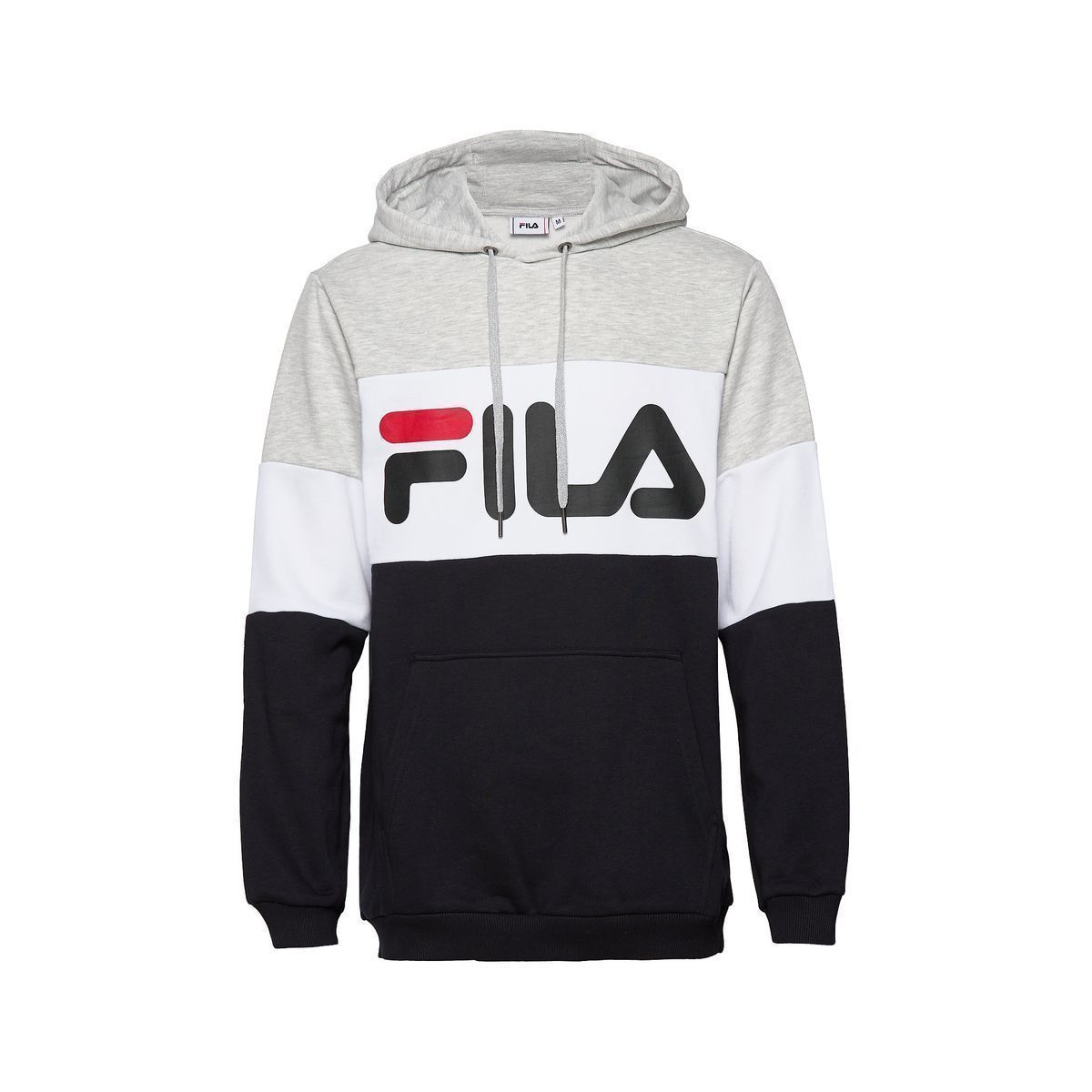 EDERLA LOW CUT NIGHT BLOCKED HOODY:GRIS/COTON, POLYESTER/COTON//Gris
