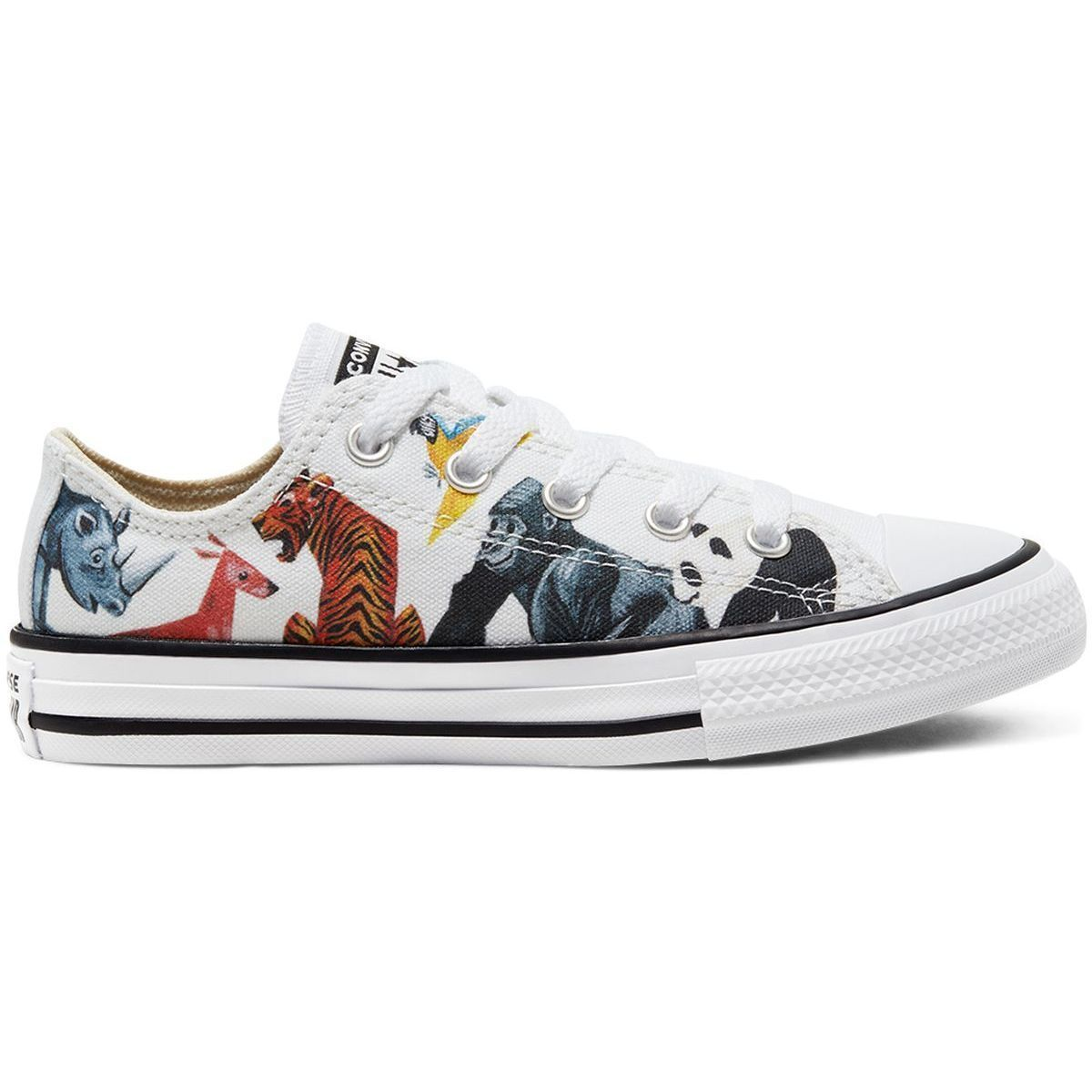 BOLS_QUEEN MIRACLE LOVERTY CHUCK TAYLOR ALL STAR OX:MULTICOLORE/TOILE/TOILE/CAOUTCHOUC/Multicolore