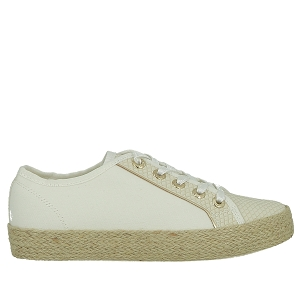 PLAZZA 431A2N015869:BLANC/SYNTHETIQUE/CUIR + SYNTHETIQUE/SYNTHETIQUE/Blanc