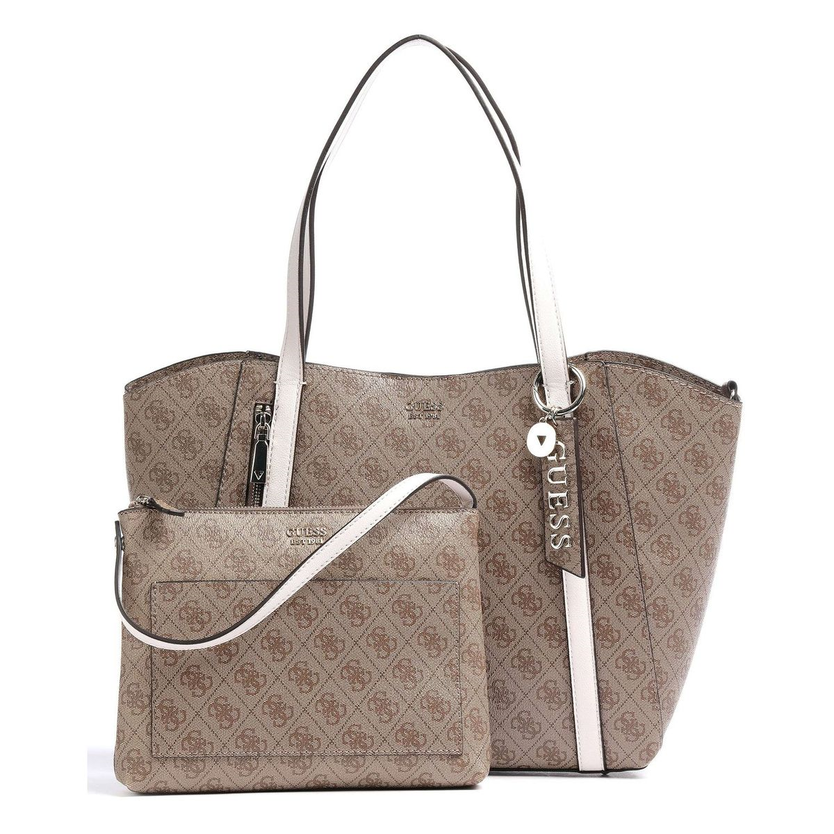 539 NAYA TRAP TOTE:LATTE/SIMILI CUIR/SYNTHETIQUE//Latte