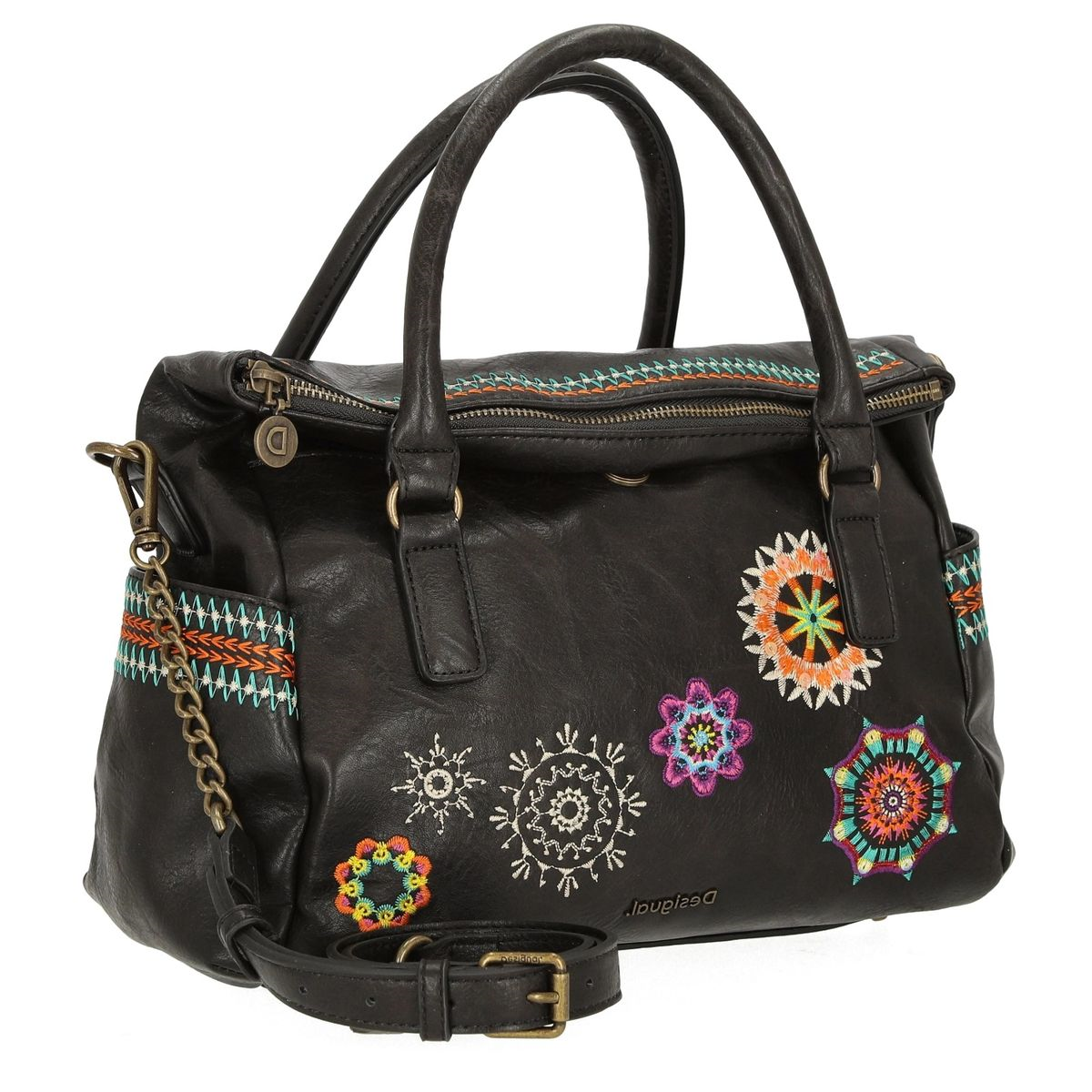 NAYA TRAP TOTE BOLS_CARLINA LOVERTY:NOIR/SIMILI CUIR/TEXTILE//Noir