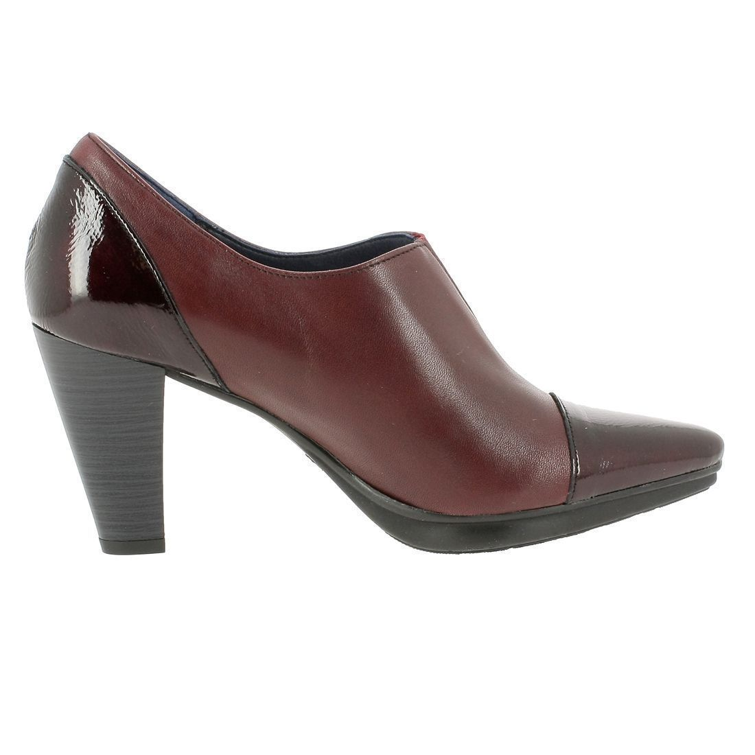 SIMONE MADA 6510:BORDEAUX/CUIR/CUIR/SYNTHETIQUE/Bordeaux