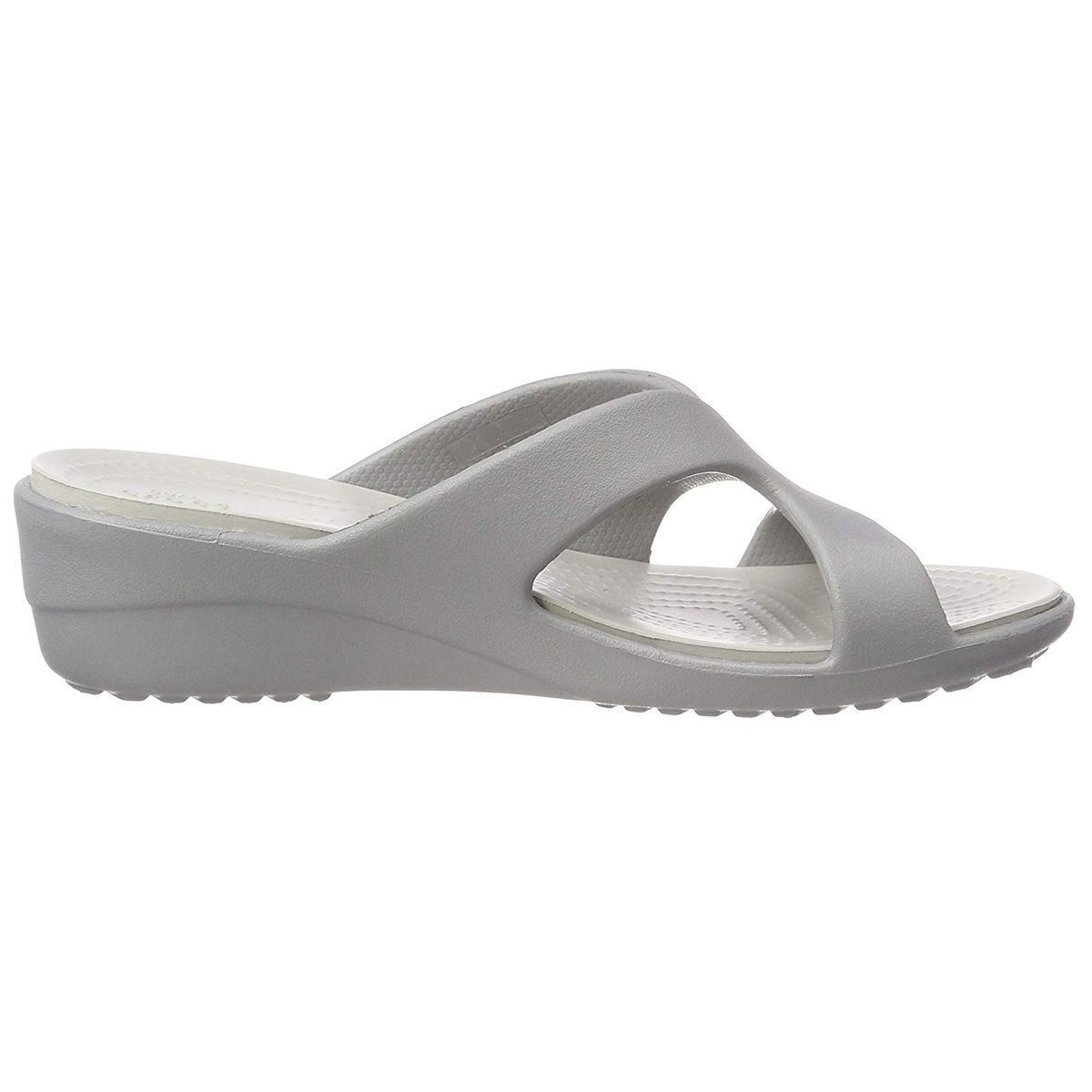 CESSILY CONVERTIBLE XBODY SANRAH STRAPPY WEDGE:SILVER/CAOUTCHOUC/CAOUTCHOUC/CAOUTCHOUC/Silver