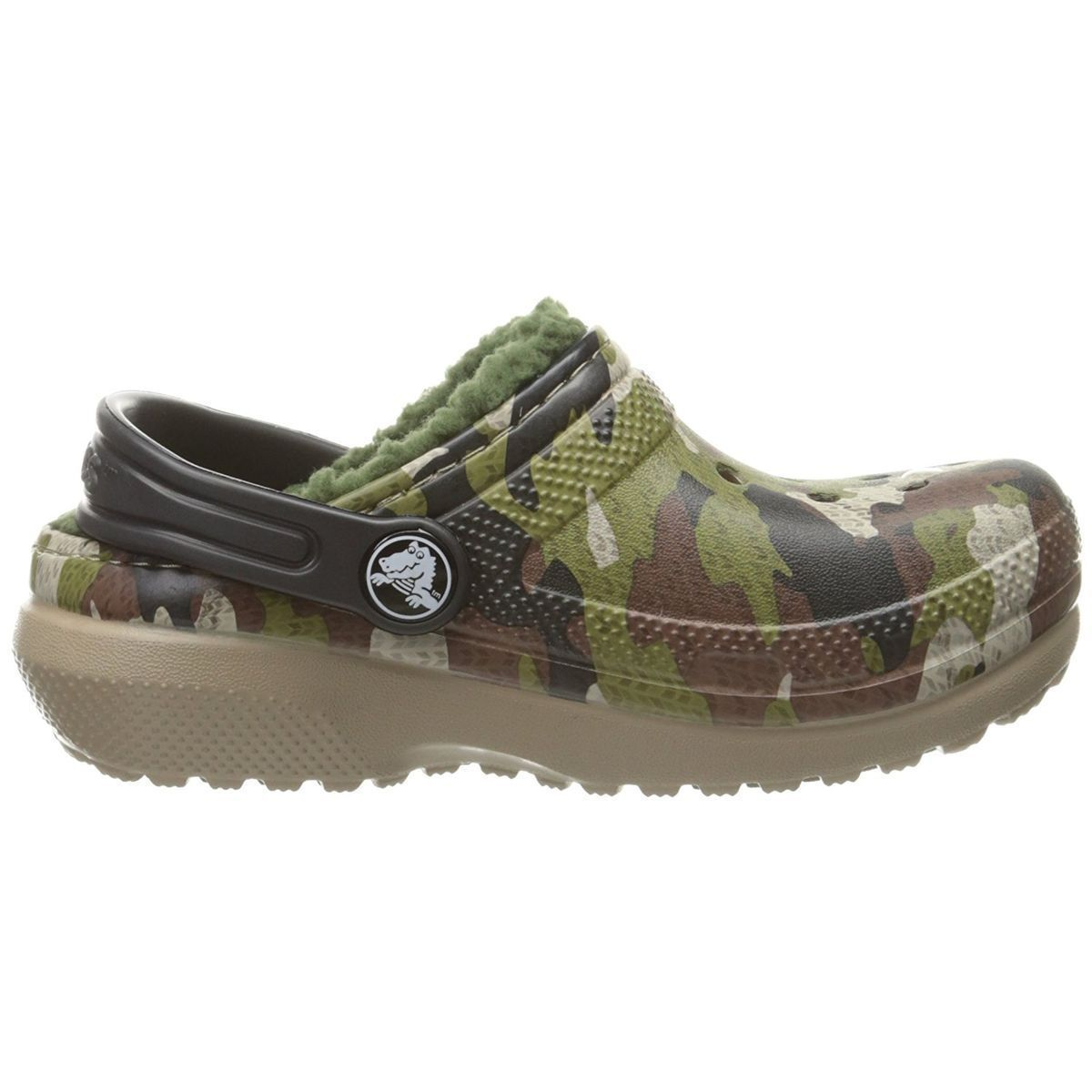 LICENCEB KID'S CLASSIC FUZZ LINED GRAPHIC CLOG:CAMOUFLAGE/CAOUTCHOUC/CAOUTCHOUC/CAOUTCHOUC/Camouflage