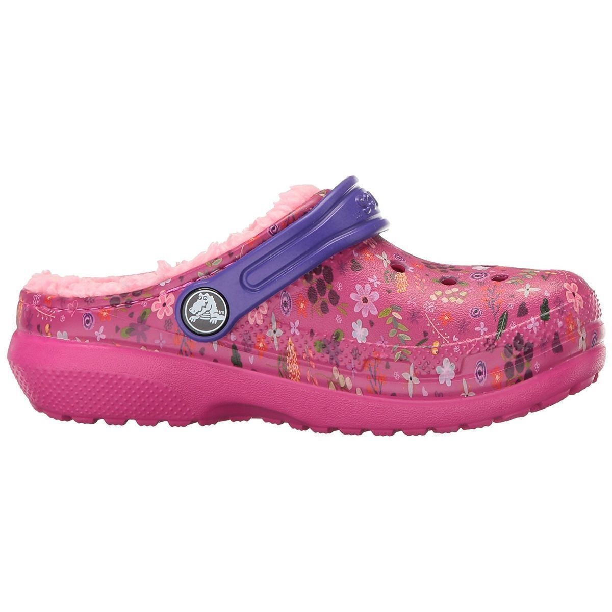 BARBADOS KID'S CLASSIC FUZZ LINED GRAPHIC CLOG:ROSE/CAOUTCHOUC/CAOUTCHOUC/CAOUTCHOUC/Rose