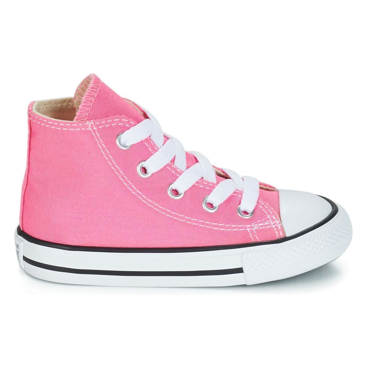 BOLS_FLOWER VALKYRIA SAFI MINI CTAS HI ALL STAR:ROSE/TOILE/TOILE/CAOUTCHOUC/Rose