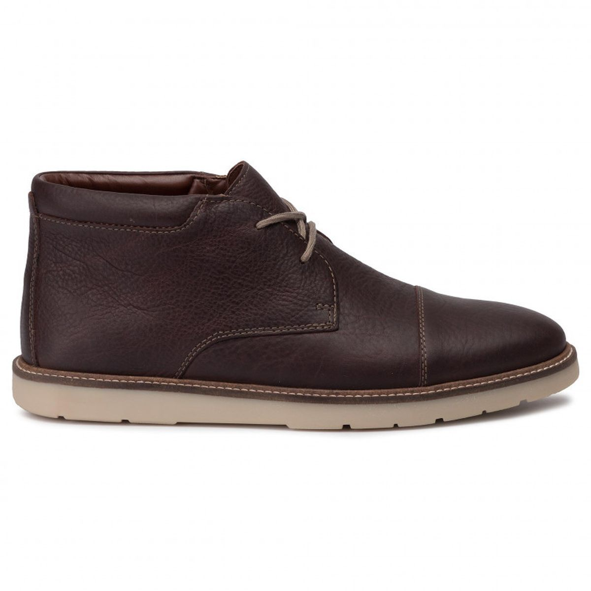 BOTTINES CATERPILLAR PETRA WP GRISES POUR FEMME GRANDIN TOP:MARRON/CUIR/TEXTILE/CAOUTCHOUC/Marron