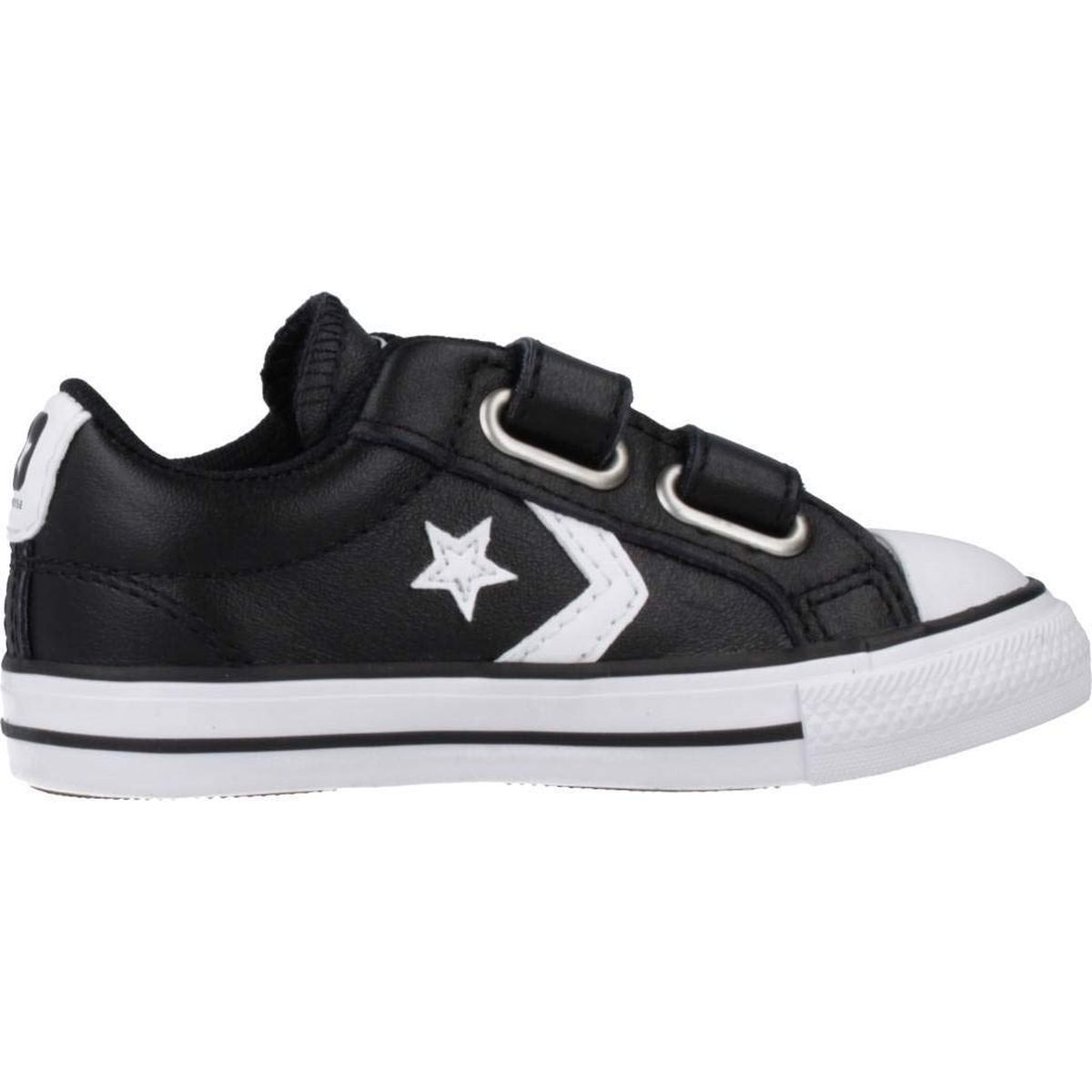 TEX HIGH STAR PLAYER EV 2V OX:NOIR/CUIR/TEXTILE/CAOUTCHOUC/Noir