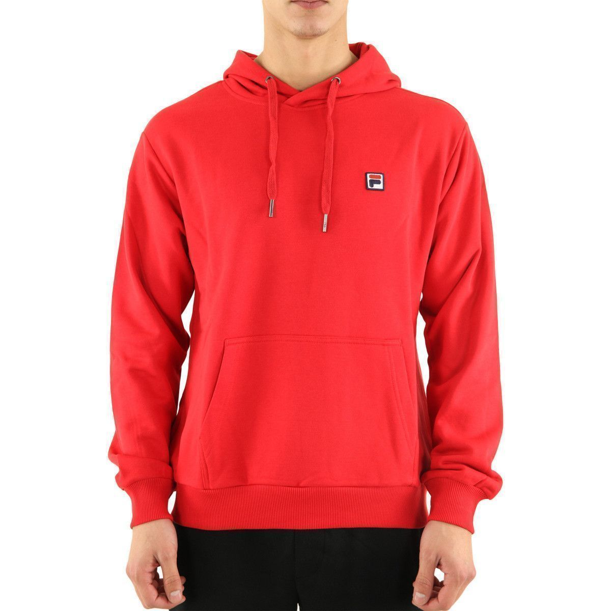 37111 VICTOR HOODY:ROUGE/COTON/COTON//Rouge