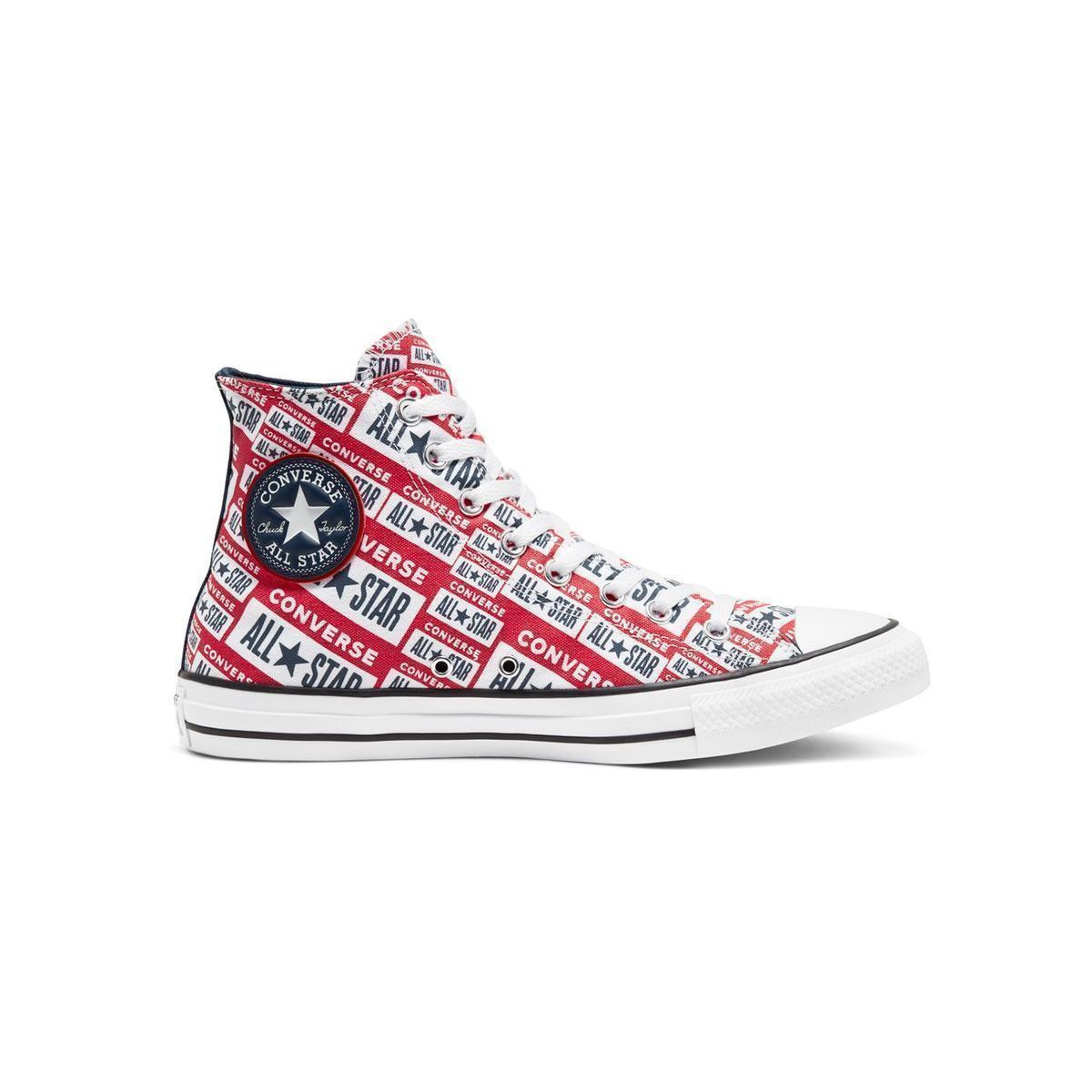 WATTLE CHUCK TAYLOR ALL STAR:ROUGE/TEXTILE/TEXTILE/CAOUTCHOUC/Rouge