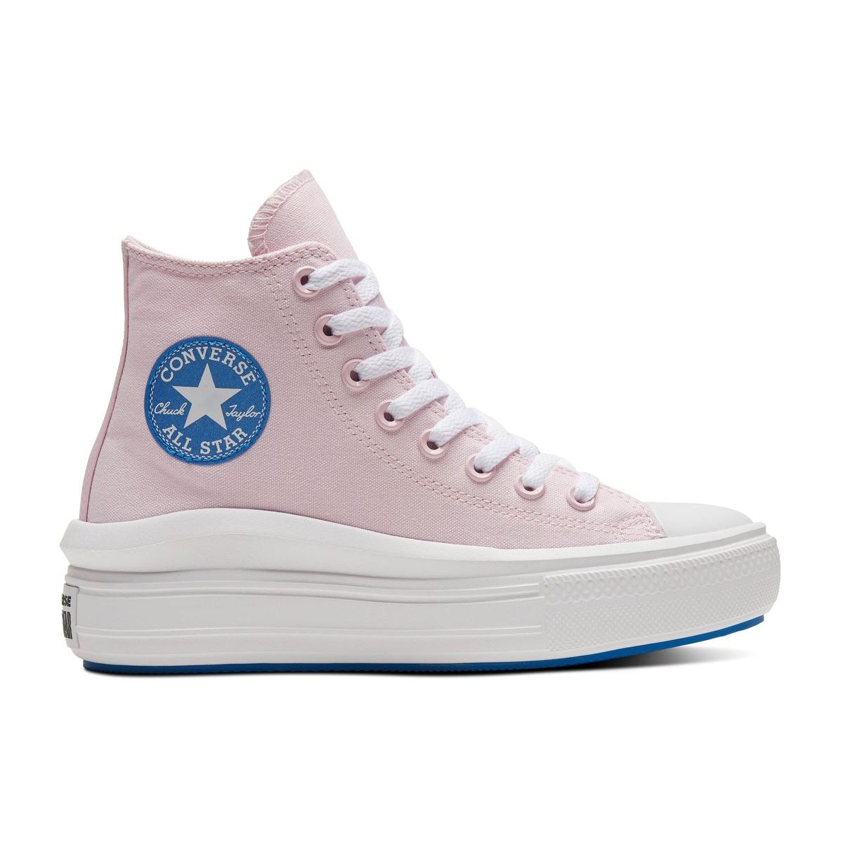TENNIS ELLY CHUCK TAYLOR HI MOVE:ROSE/CANVAS/TEXITLE/CAOUTCHOUC/Rose