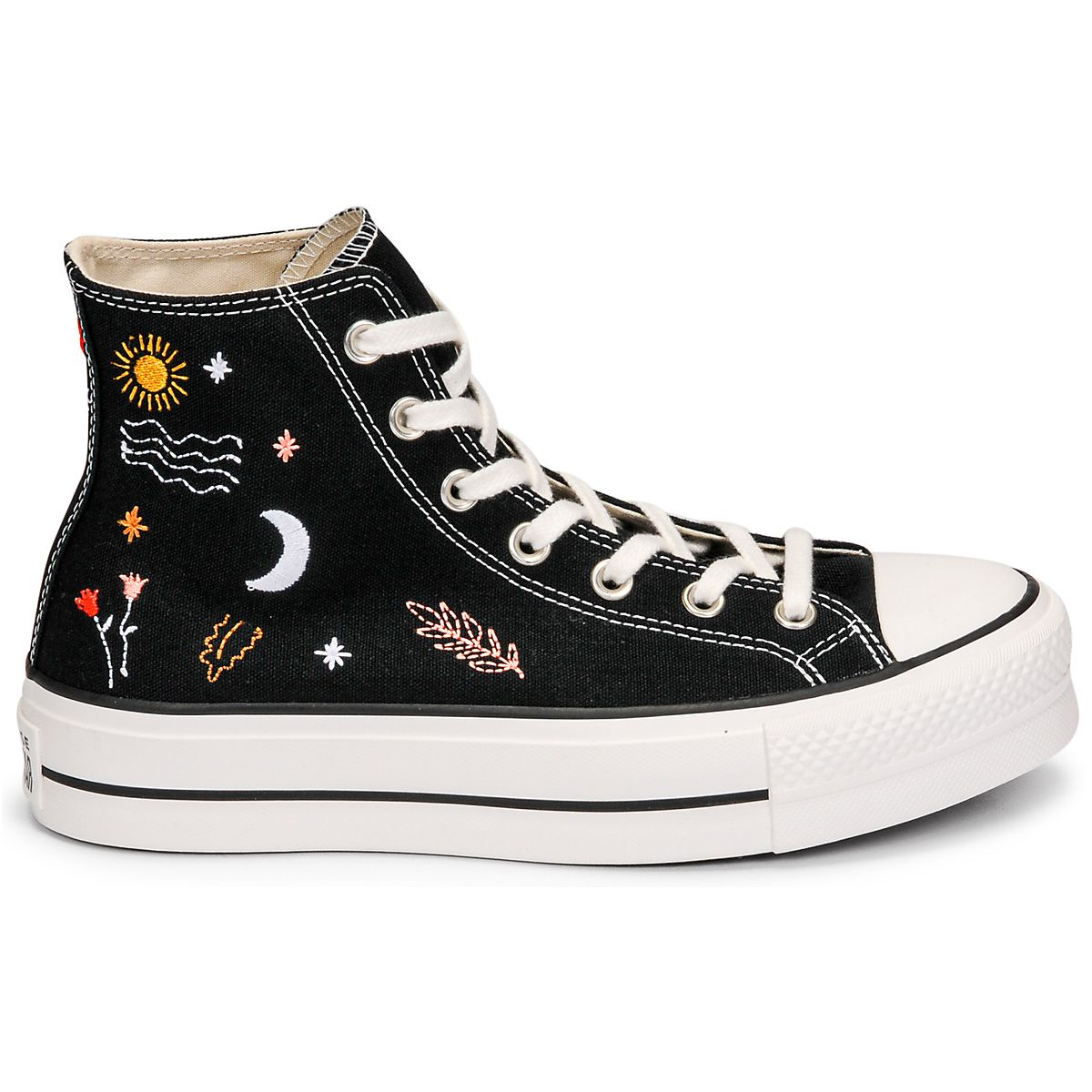 IRELAND CHUCK TAYLOR ALL STAR LIFT:NOIR/CANVAS/TEXTILE/CAOUTCHOUC/Noir