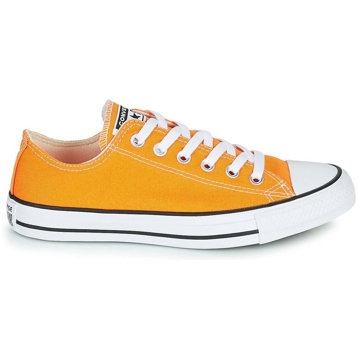 GIZEH CHUCK TAYLOR ALL STAR - OX:ORANGE/TEXTILE/TEXTILE/CAOUTCHOUC/Orange
