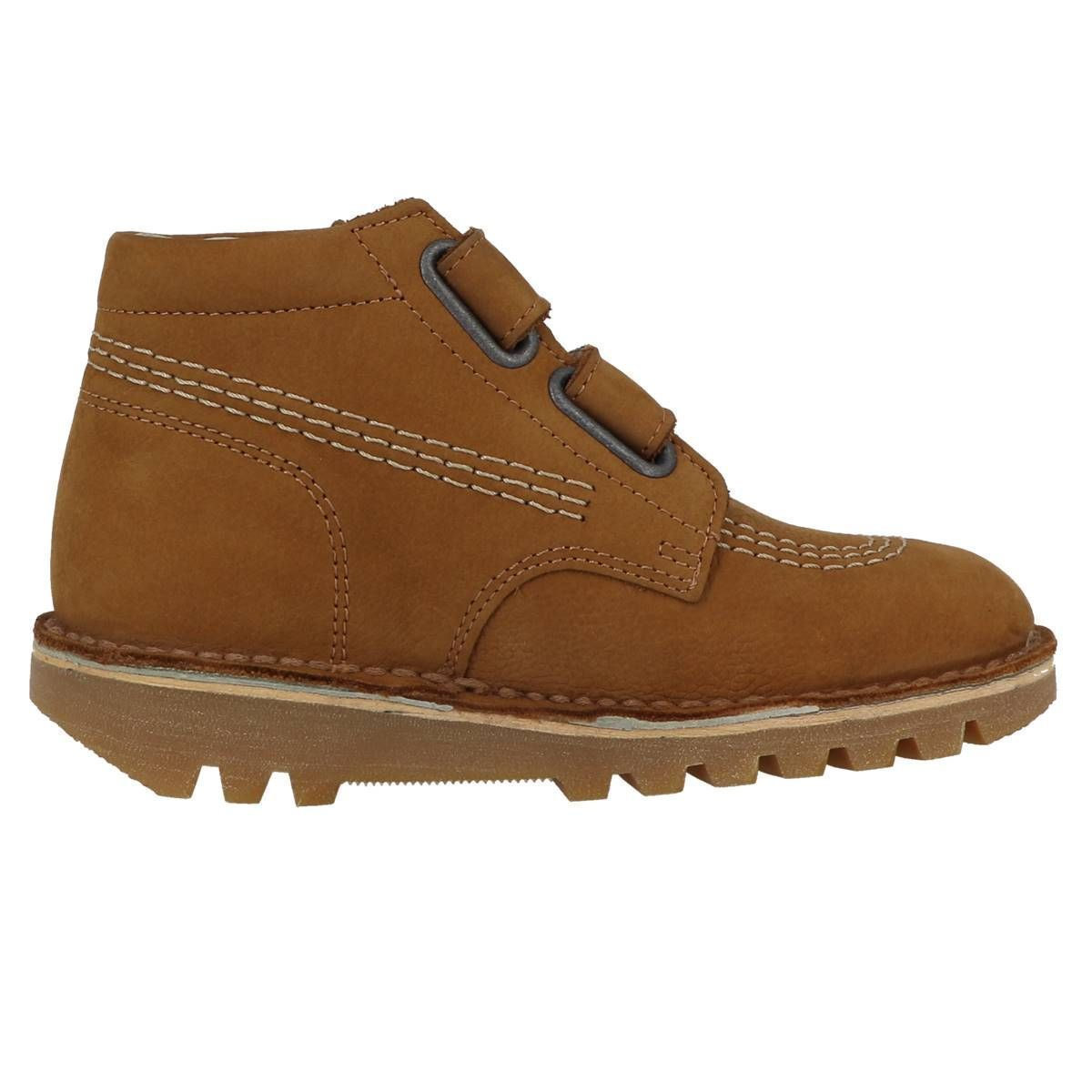 Kickers fille neovelcro camel