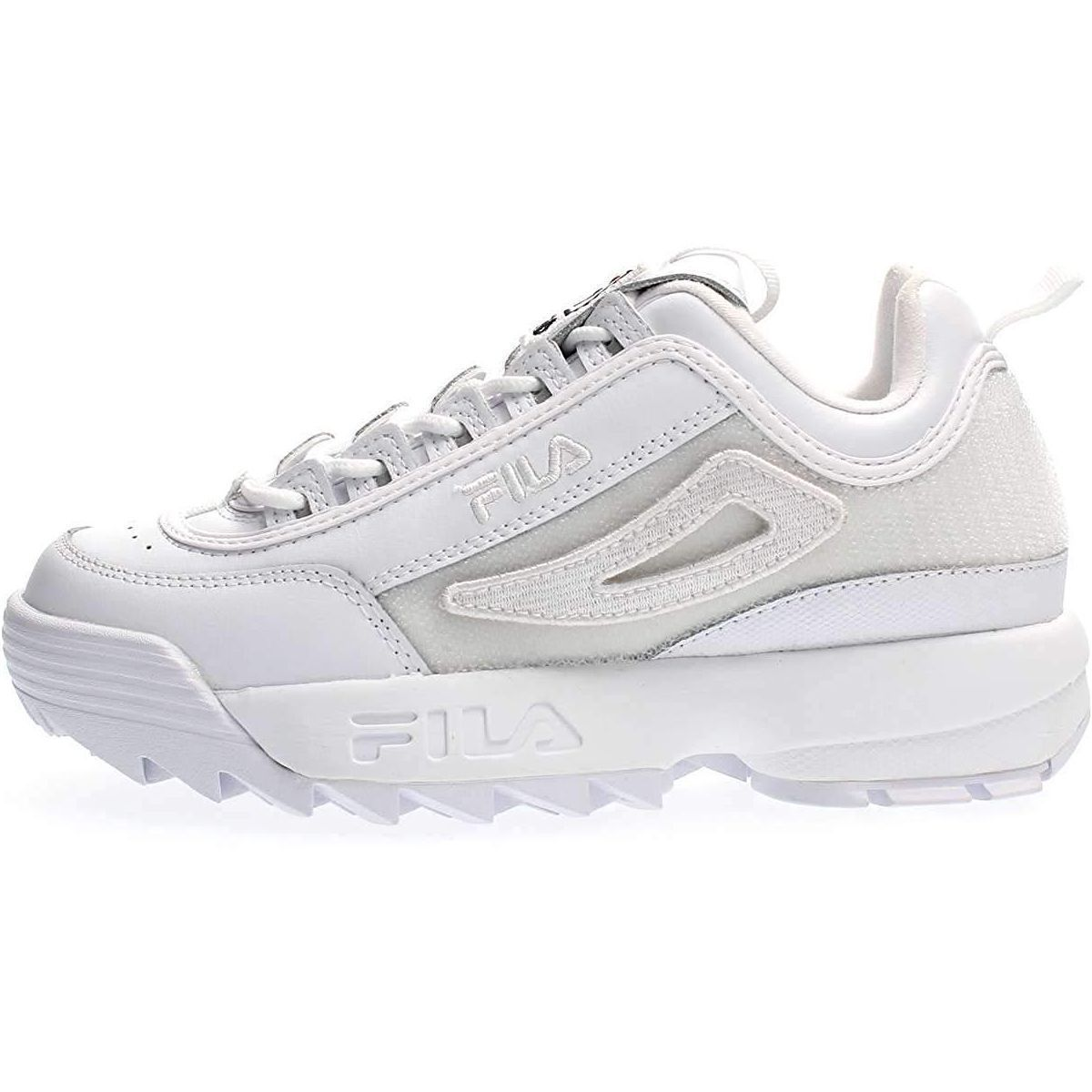 Fila femme disruptor 2 patches blanc