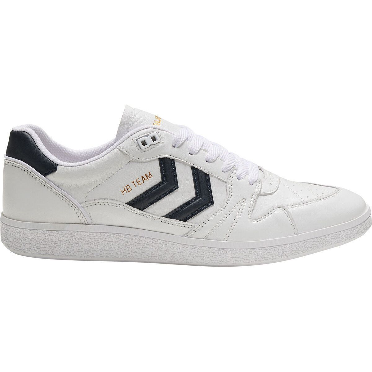 Hummel homme hb team leather blanc