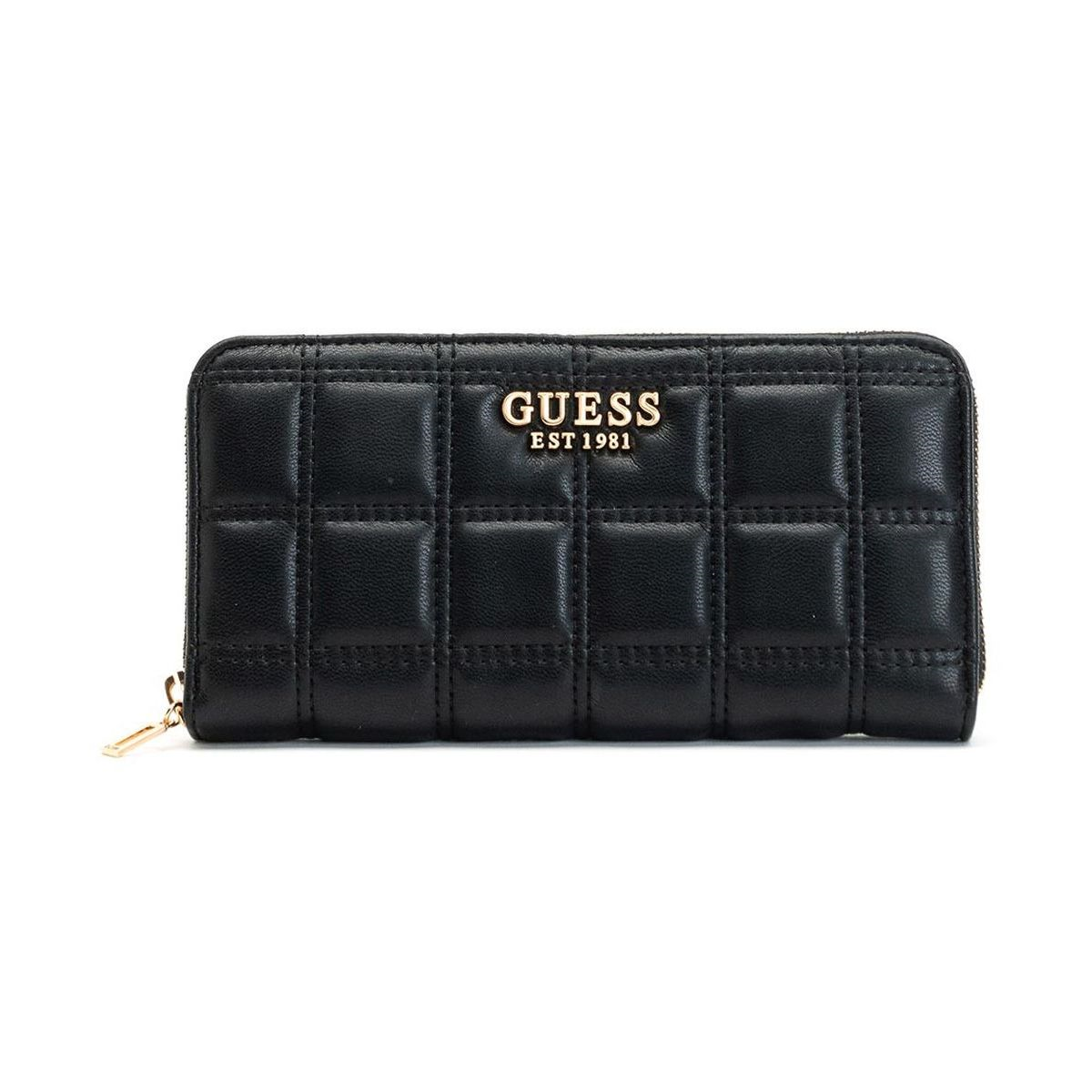 Guess femme kamina slg large zip around noir