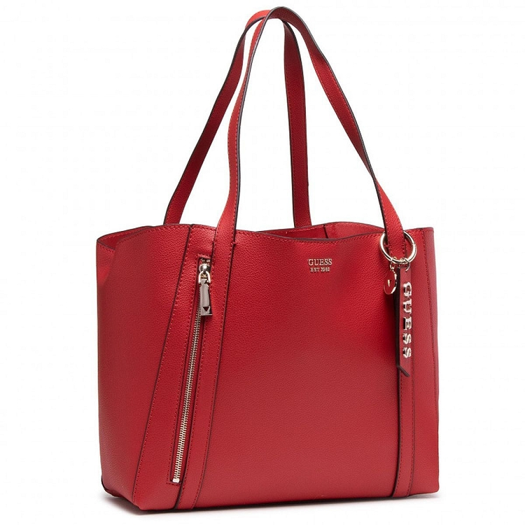 Guess femme naya trap tote rouge